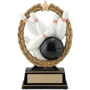 6.5 Negative Space Bowling Trophy