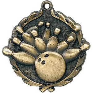 1.75 Sculptured Bowling Medal