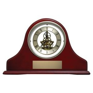 "13"" x 9"" Rosewood Skeleton Mantle Clock"