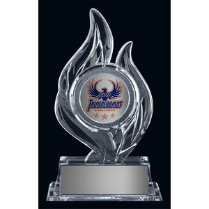 "Krystal 7.875"" Flame Acrylic Clear Award"