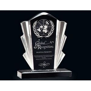Black & Clear Flair Acrylic Award (8.75)