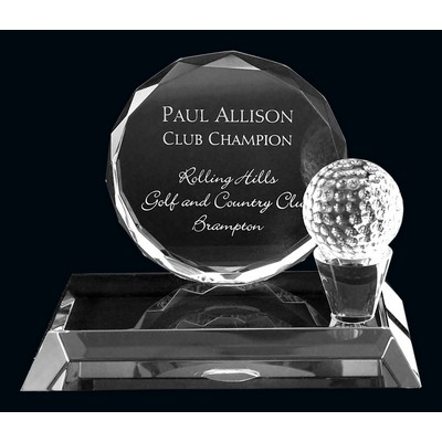 Galbraithe Crystal Golf Award (5.75x4.75)