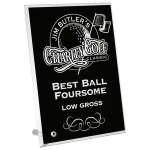 Marathon Glass Black Plaque (5x7)