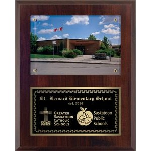 Cherrywood Surface Mount Photo Plaque (7x9)