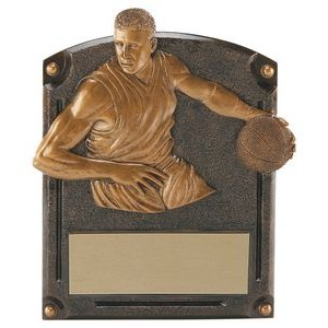"3.5""x4.25"" Male Legends Of Fame Basketball Award"
