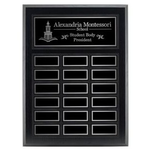"12"" x 15-1/2"" 18-Plate Annual Plaque"