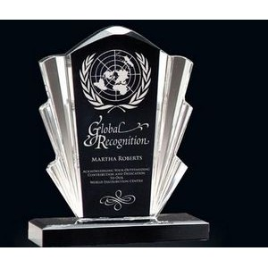 Black & Clear Flair Acrylic Award (6.75)