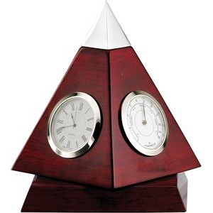 Rotating Rosewood Pyramid Clock